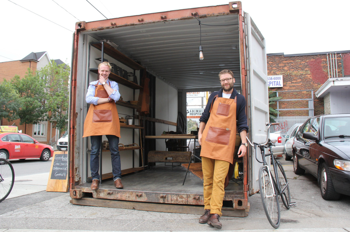 shipping container popup shop